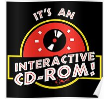 It's An Interactive CD-ROM Jurassic Park Poster
