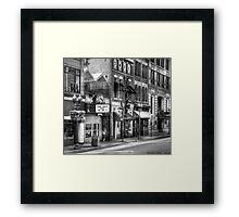 Down one fine street Framed Print