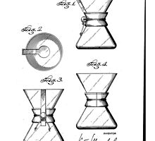 Chemex Coffee Maker - Original Patent Artwork by fascinatingly