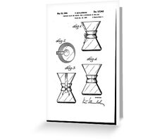 Chemex Coffee Maker - Original Patent Artwork Greeting Card