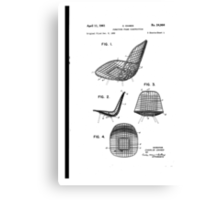 Eames - Wire Chair - Patent Artwork Canvas Print