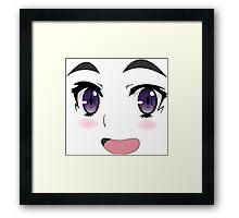 cute smile anime  Framed Print