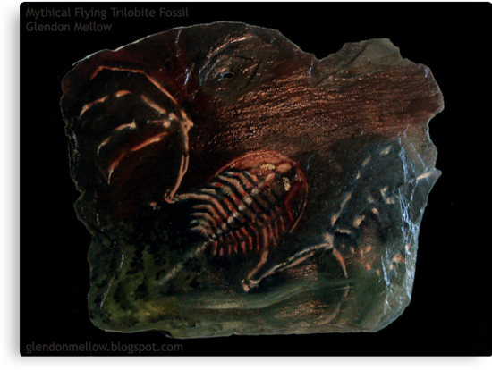 Mythical Flying Trilobite Fossil I by Glendon Mellow