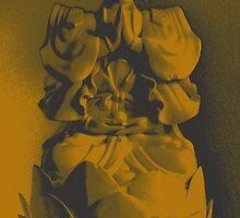 Old Sepia Buddha Icon by wanda1505