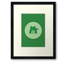 Green Cat Framed Print