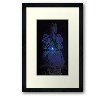 Glowing Tranquil Buddha Framed Print