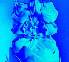 Electric Blue / Turquoise Buddha by wanda1505