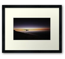 Dusk at Monkey Mia Framed Print