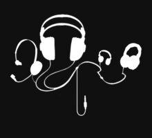 Headphones WHITE by MuscularTeeth