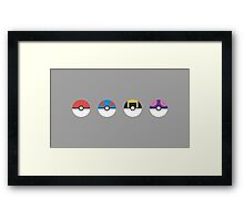 Pokemon - Pokeballs Framed Print