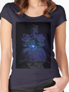 Tranquil Enlightening Buddha Women's Fitted Scoop T-Shirt