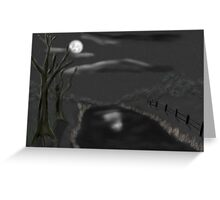 Haunted By Moonlight Greeting Card