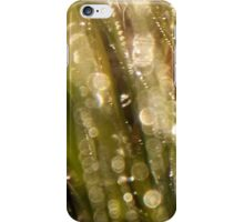 Bokeh waterdrops on grass blades II iPhone Case/Skin