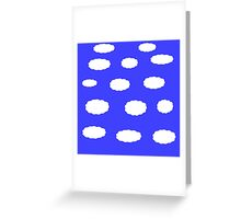 Clouds on blue sky Greeting Card