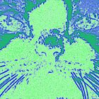 Blue Green Cat - Pop Art Style by wanda1505