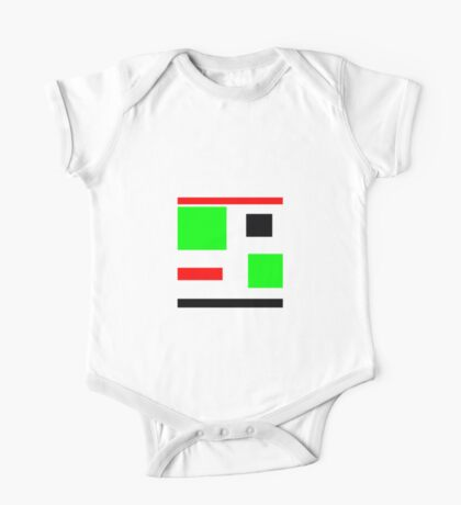 Green, black, red, blocks design One Piece - Short Sleeve