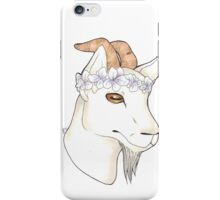 Flower Crown Goat iPhone Case/Skin