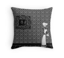 Stop, you'll frighten the maid! Throw Pillow