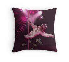 Sloth Stripper Throw Pillow
