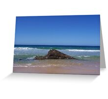 Rock in the water Greeting Card