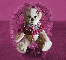 RIBBONS,BOWS AND LACE,CUTE BEAR PILLOW AND OR TOTE BAG by ✿✿ Bonita ✿✿ ђєℓℓσ