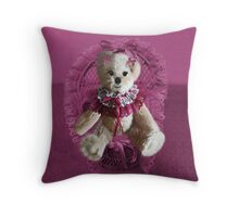 RIBBONS,BOWS AND LACE,CUTE BEAR PILLOW AND OR TOTE BAG Throw Pillow