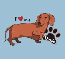 I Love My Doxie by davidicon