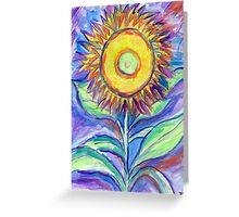 Flagler Beach Sunflower Greeting Card