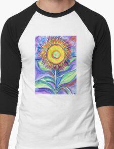 Flagler Beach Sunflower Men's Baseball ¾ T-Shirt