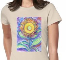 Flagler Beach Sunflower Womens Fitted T-Shirt