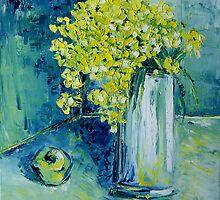 Still life with green Apple by Claudia Hansen