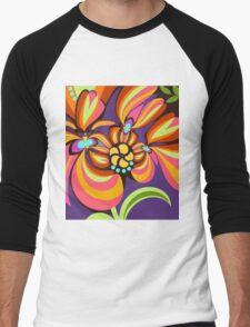 Colourful floral fantasy Men's Baseball ¾ T-Shirt