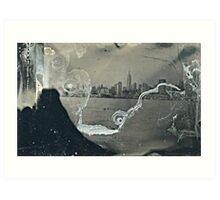 "NYC Skyline with ESB ""tintype"" photograph Art Print"