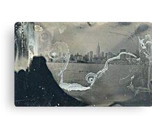 "NYC Skyline with ESB ""tintype"" photograph Metal Print"