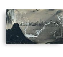 "NYC Skyline with ESB ""tintype"" photograph Canvas Print"