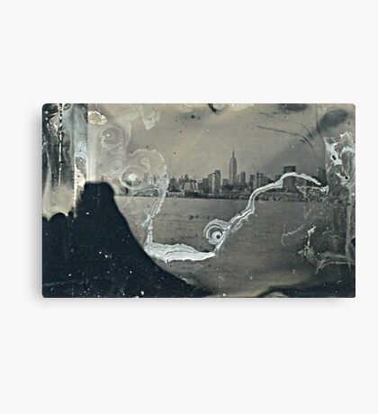 "NYC Skyline with ESB ""tintype"" photograph Canvas Print"
