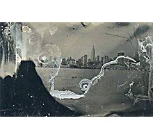 "NYC Skyline with ESB ""tintype"" photograph Photographic Print"