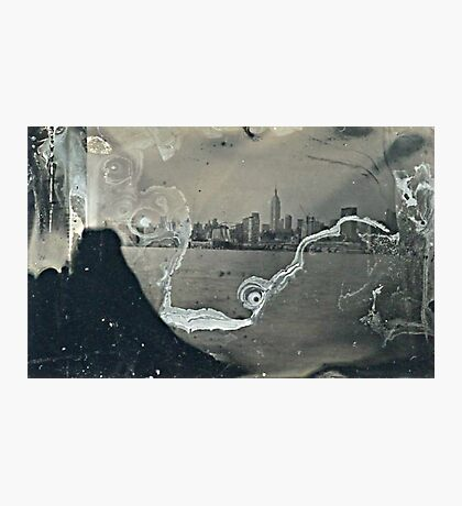 "NYC Skyline with ESB ""tintype"" photograph Photographic Print"