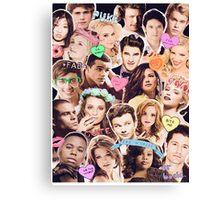 glee cast collage Canvas Print