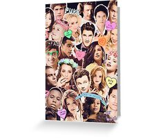 glee cast collage Greeting Card