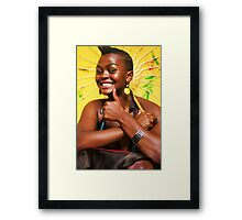 Thumbs up! Framed Print