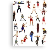 glee dodgeball Canvas Print