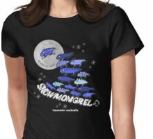 Snow Mongrel - No Wind No Waves Wave of Lizards Womens Fitted T-Shirt