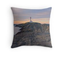 Cape Forchu Lighthouse - Nova Scotia, Canada Throw Pillow