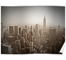 Empire State Building and Manhattan Skyline Poster