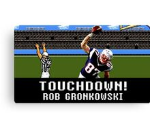 Tecmo Bowl Touchdown Rob Gronkowski Canvas Print