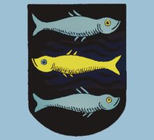 Scandinavian Fish Drawing Shield by Ryan Houston