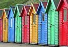 Beach Huts by KathO