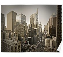 Broadway looking towards Times Square - Manhattan  Poster