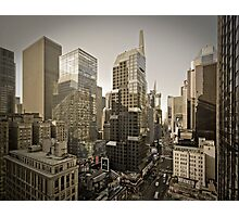 Broadway looking towards Times Square - Manhattan  Photographic Print